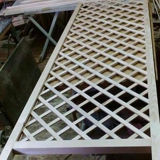 Шпалера деревянная садовая / забор-решетка / ограждение садовое