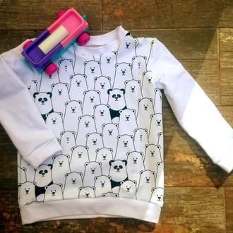 Детский свитшот OGRE с мишками и пандами