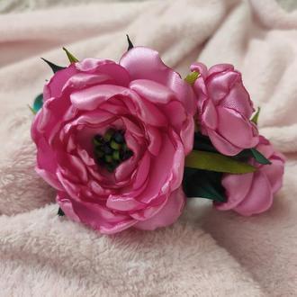 Детский ободок, обруч с цветами