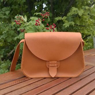 """Женская кожаная сумочка через плечо """"Jane""""."""