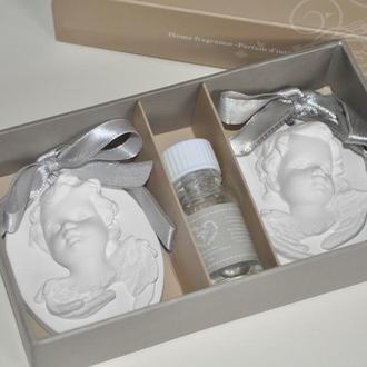 Набор аромакамней ангелочки 2шт в подарочной упаковке лаванда