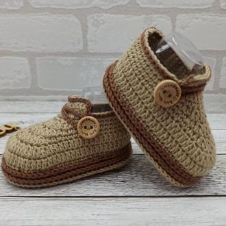 В'язані дитячі пінетки, вязані пінетки туфлі, дитячі черевички, вязані пінетки чобітки