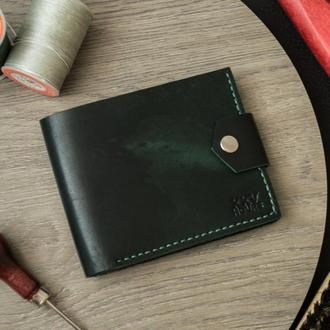Кожаный кошелек (Зеленый) Pointer