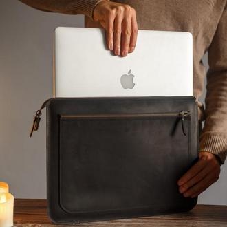 Чехол для ноутбука Apple, Asus, Dell, Lenovo, HP, Honor, Acer, Huawei, Xiaomi из натуральной кожи