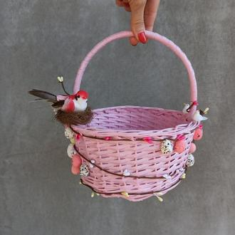 Розовый Детский пасхальный корзина для девочек