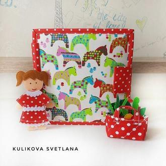 Фетрова книжка Ляльковий будиночок