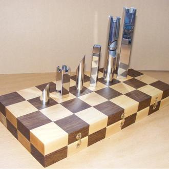 Складной шахматный набор. Абстрактные шахматы