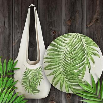 Эко-сумка с вышивкой.