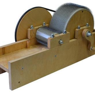 Кардер барабанный для обработки шерсти ( Узкий размер барабана 12 см на 75 см)