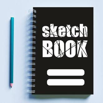 """Скетчбук (Sketchbook) для рисования с принтом """"Sketch Book"""""""