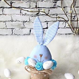 Заяц яйцо/ Пасхальный зайчик/ кролик пасха/ пасхальный сувенир hand made