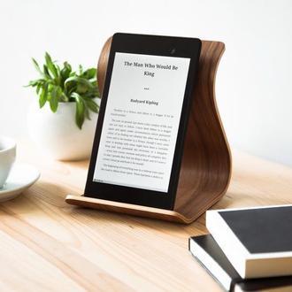 Деревянная подставка для планшета Tablet Stand •Sign• Walnut