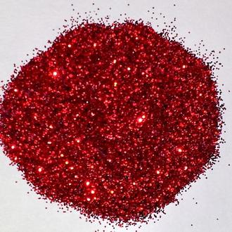 Глиттер (блестки), красный, 10 гр