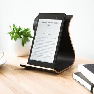 Деревянная подставка для планшета Tablet Stand •Sign• Wenge Black