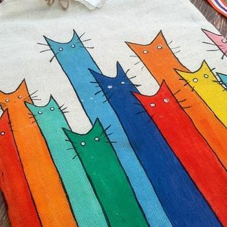 """Сумка """"Різнобарвні коти"""""""