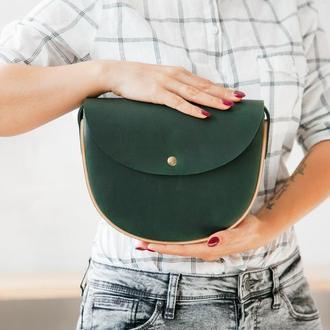 REA Green + Walnut - сумка из натуральной кожи и дерева