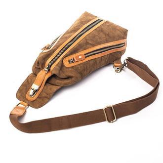 """Нагрудная сумка-слинг """"Bronx"""". Сумка через плечо. Стильная унисекс сумка. Бананка."""