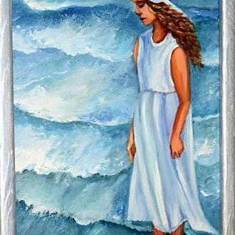 Морское настроение,живопись,размер 20х30