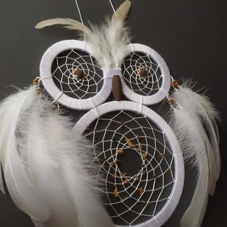Белый бохо ловец снов. Свадебный ловец снов.