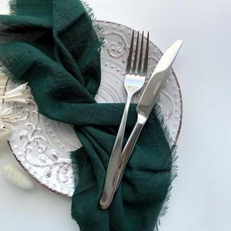 САЛФЕТКА хлопковая ,цвет ТЕМНО-Зеленый