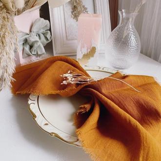 САЛФЕТКА хлопковая, цвет СГОРЕВШИЙ ОРАНЖЕВЫЙ (burnt-orange)