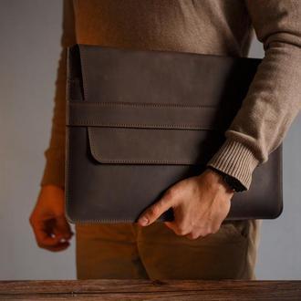 Кожаный чехол для ноутбука или планшета MacBook, Asus, Lenovo, Sumsung, HP