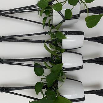 Набор из 4 кашпо для цветов в технике макраме Подвески для цветов Урбан джангл декор
