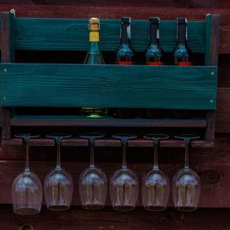 Полка винная зеленая