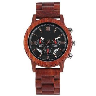 Наручные деревянные часы Trinity 2 (возможна фото- гравировка, нанесение эмблем). Надпись БЕСПЛАТНО
