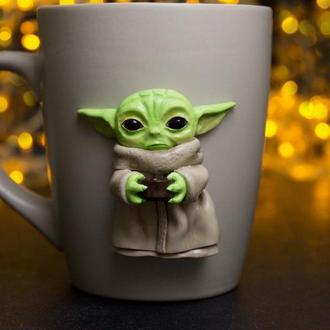 Чашка с декором Беби Йода, малыш Грогу, Звездные Войны, Мандалорец