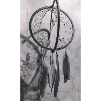 Объемный серый 3Д Ловец снов. Декор для дома. Подарок. Амулет.