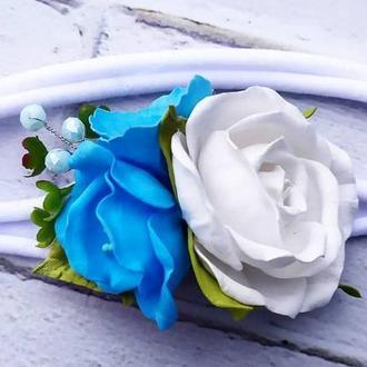 Повязка с цветочным букетом