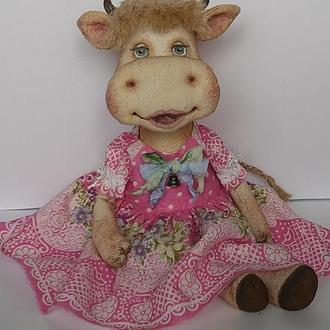 Текстильная игрушка ′Коровка′