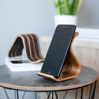 Деревянная подставка для телефона Phone Stand •Sign• Daniellia