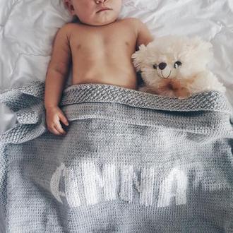 детский именной плед