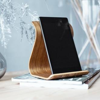 Деревянная подставка для планшета Tablet Stand •Sign• Daniellia