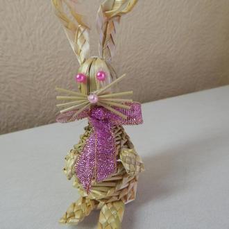 Пасхальный кролик украшения на Пасхальный кролик, миниатюрное животное, соломенный кролик , Пасхальн