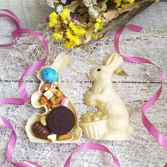 3D зайчик из натурального шоколада