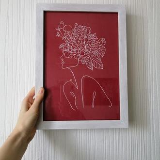 """Квітка душа"" картина, вирізана з паперу"