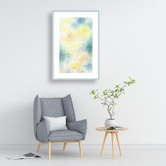 Постер. Абстрактная картина. Солнечный день. Интерьерная картина.