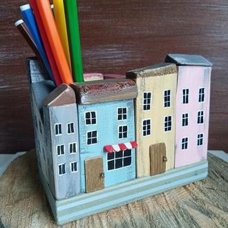 Карандашница, подставка для карандашей. Ручная работа.