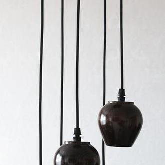Люстра из натурального дерева на 5 ламп Патрон NP-525