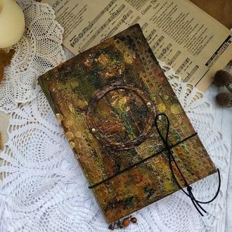 Гримуар старинный. Блокнот с состаренными страницами