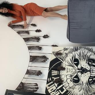 Гирлянда макраме Подвеска на стену Гирлянда в стиле бохо Натуральная гирлянда Еко декор