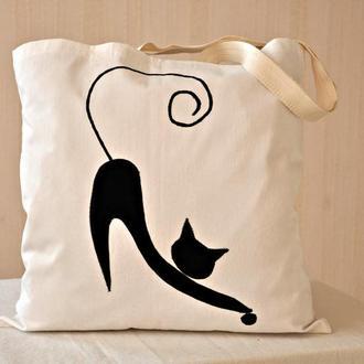 Сумка с черным котом