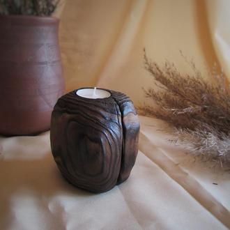 Подсвечник из дерева для чайной свечи