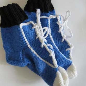 Вязаные носки -кеды