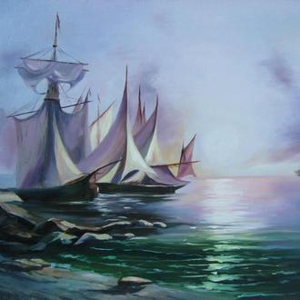 Картина маслом. Морской пейзаж