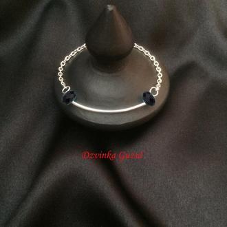 Серебряный кулон браслет серебро колье Подарок ожерелье кристалл Сваровски dzvinka guzul тренд new