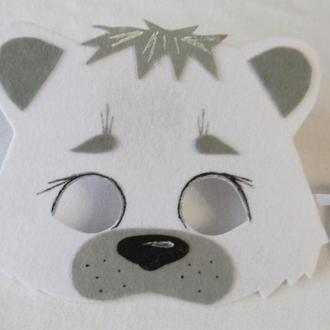 Карнавальная маска белый медведь
